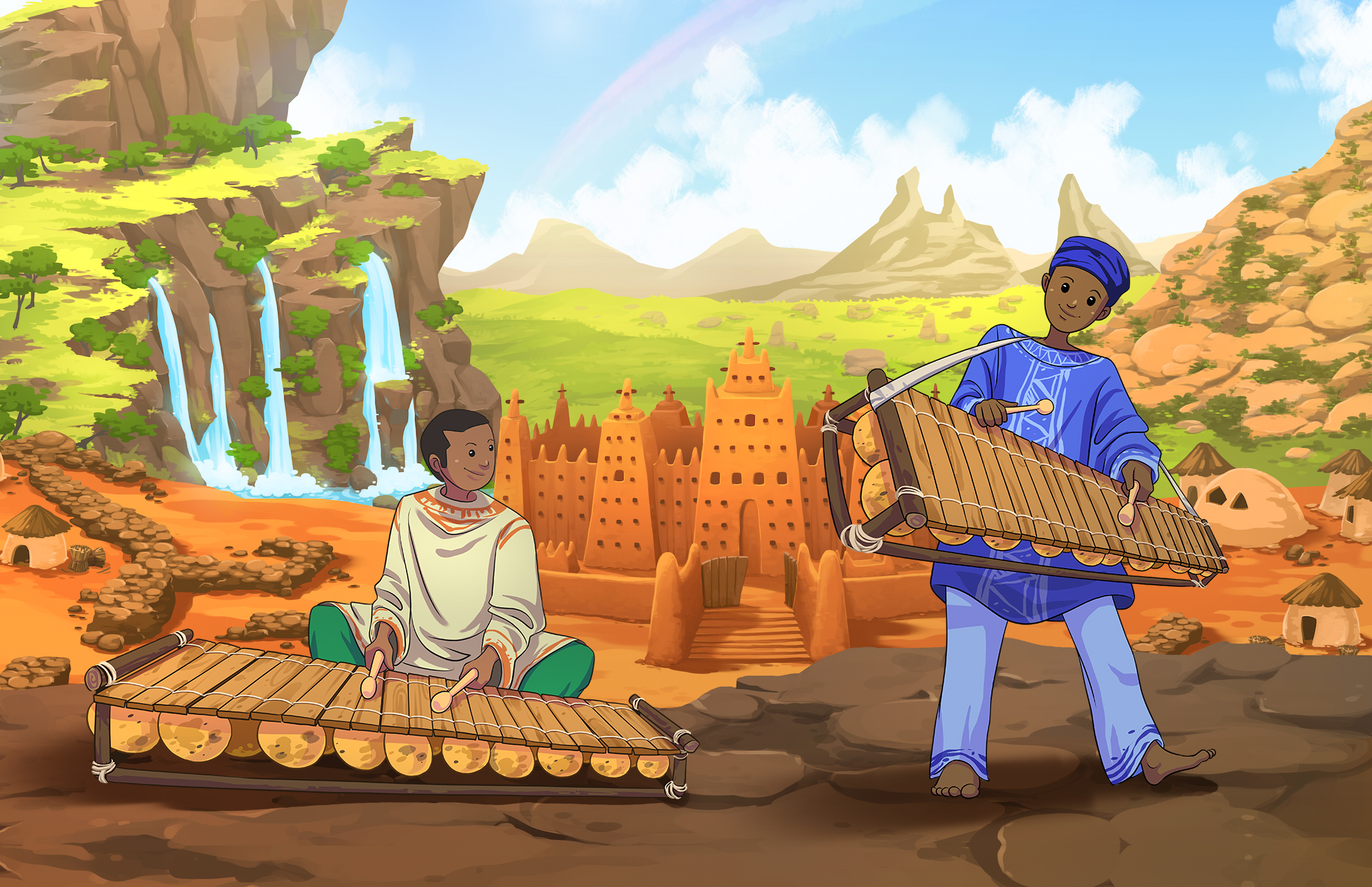 Balafon And Griots Cultural Infusion